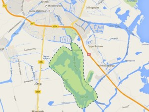 kaart poldervogelroute